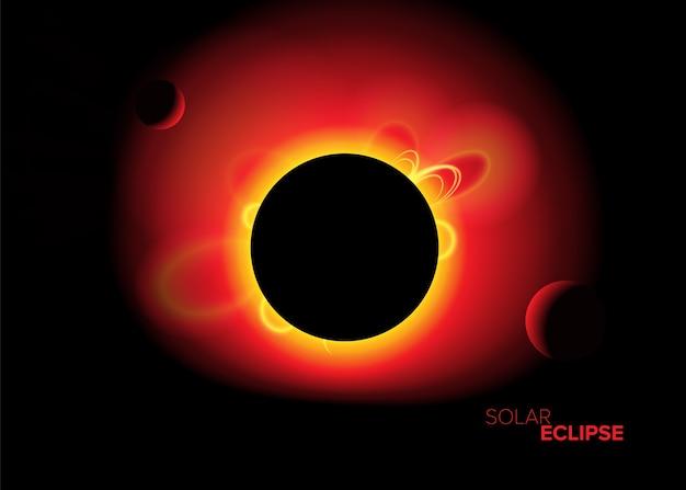 Eclipse solaire dans l'art vectoriel