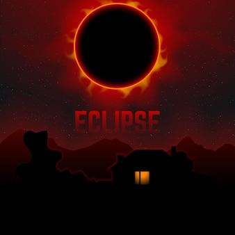 Eclipse solaire totale sur la planète terre