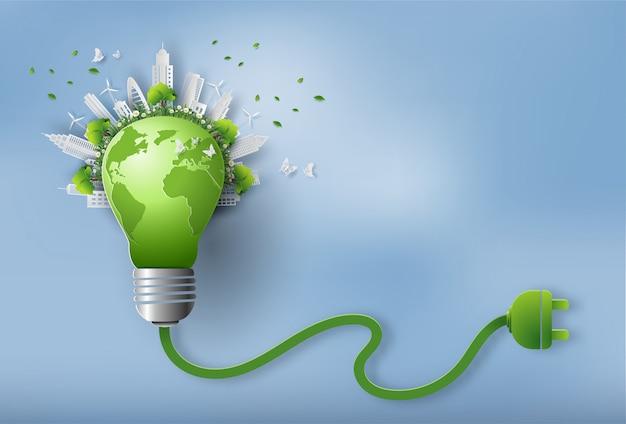 Eco friendly et concept de jour de la terre.