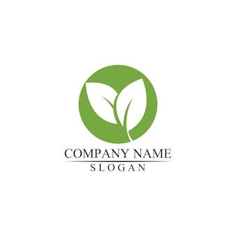 Eco icône feuille verte illustration vectorielle