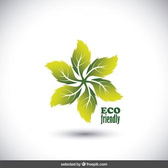 Eco logo amicale faite avec des feuilles