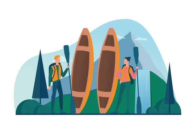 Eco tourisme et concept de voyage écologique