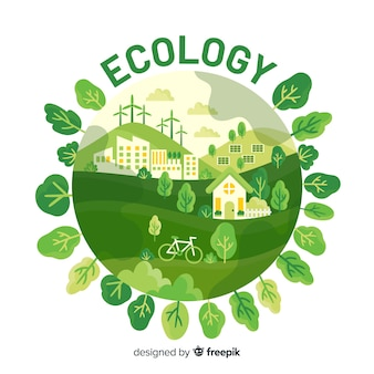 Eco village utilisant les énergies renouvelables