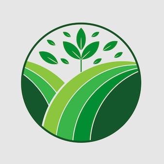 Ecofriendly natural initial une lettre logo design vector templet