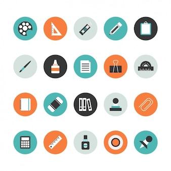 Ecole collection d'icônes matériel