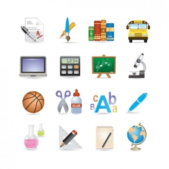 Ecole icon set
