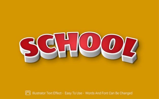 École - style d'effet de texte modifiable