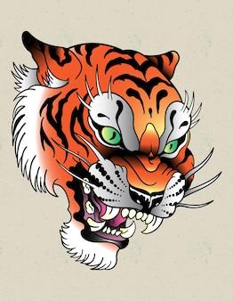 École de tatouage de tigre