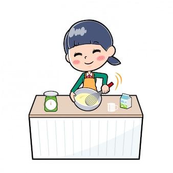 Écolière hors ligne green_cook-kakimaze