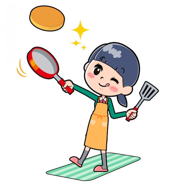 Écolière en ligne green_cook-hotcake