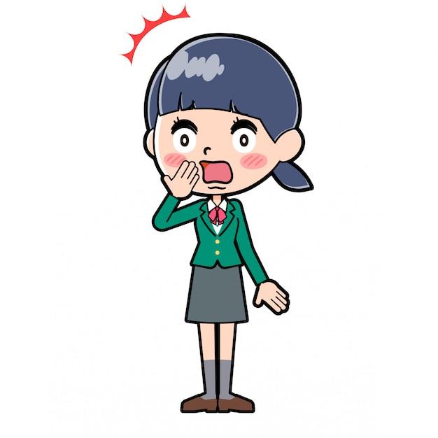 Écolière en ligne green_odoroki