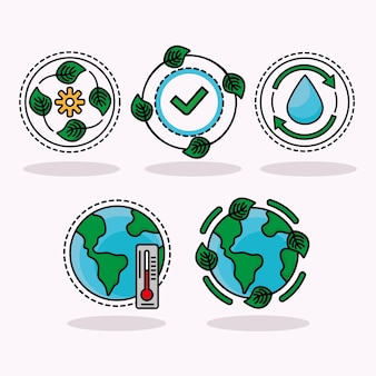 Écologie cinq icônes