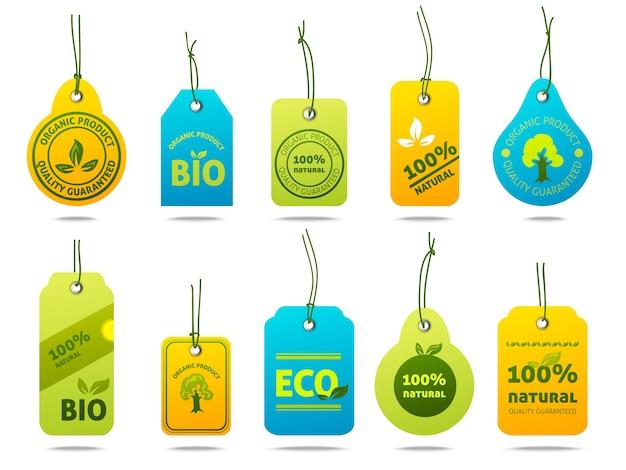 Ecologie étiquettes en carton