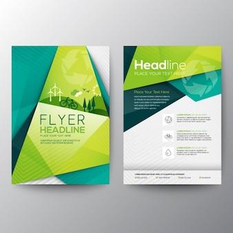 Ecologie flyer template