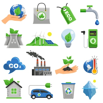 Écologie icon set
