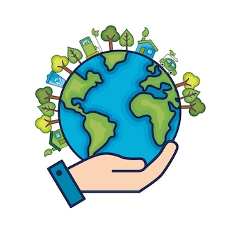 Ecologie planète terre à l'environnement soin