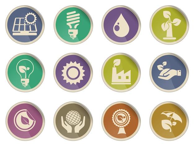 L'écologie simplement symbole pour les icônes web