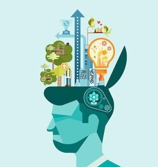 Ecology - pensez à un esprit humain vert