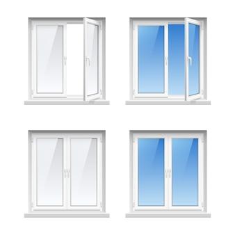 Économie d'énergie facile d'entretien des cadres de fenêtre en pvc en plastique