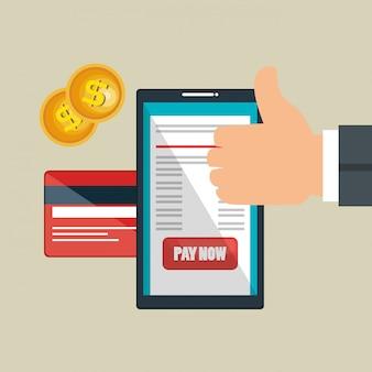 Économiser de l'argent en ligne avec smartphone