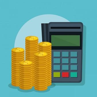 Économiser de l'argent mis des icônes