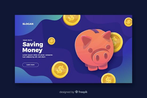 Économiser de l'argent page d'atterrissage