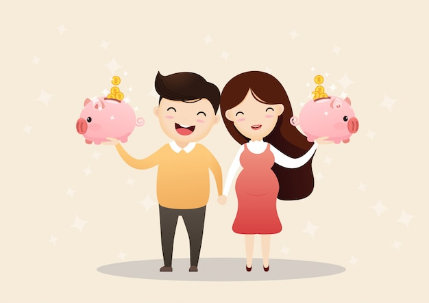 Économiser de l'argent pour l'avenir.