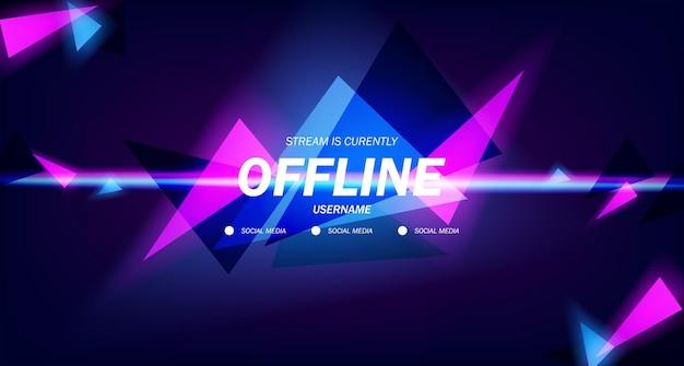 Économiseur d'écran de fond de twitch moderne fond de jeu de flux hors ligne