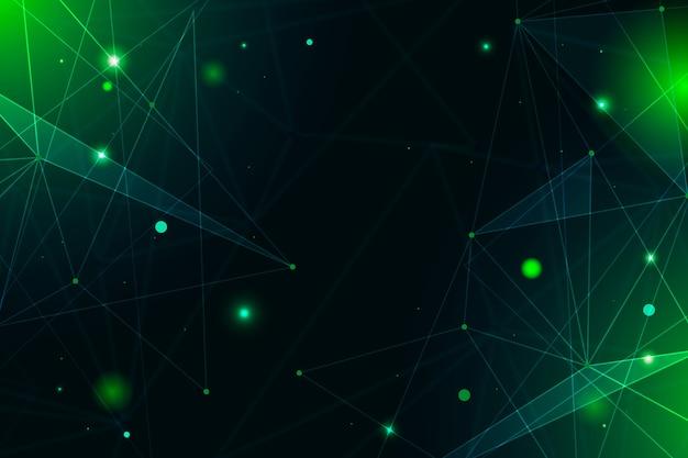 Économiseur d'écran de particules de technologie réaliste abstraite