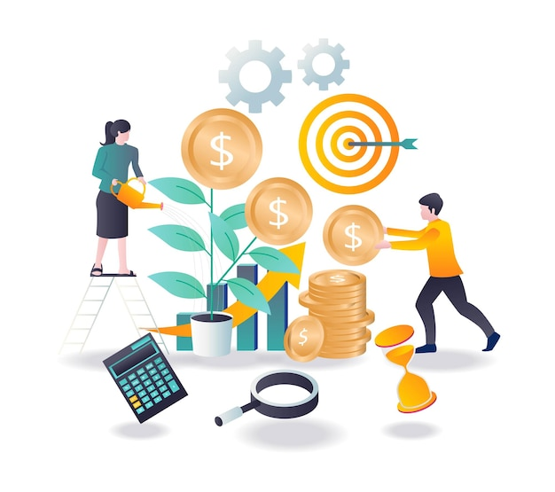 Économisez et conservez de l'argent pour l'investissement des entreprises