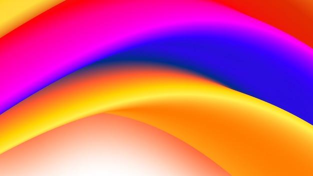 Écoulement de fluide coloré. fond abstrait. illustration.