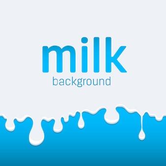 Écoulement et goutte de lait. splash drop cream.