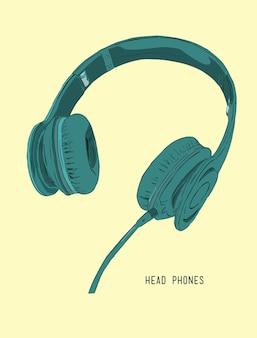 Écouteurs réalistes de vector illustration