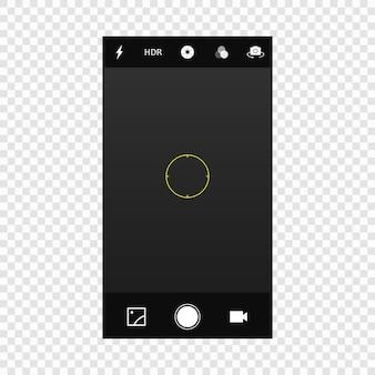 Écran de l'appareil photo du téléphone portable mobile