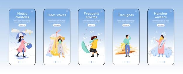 Écran d'application mobile de prévisions météorologiques