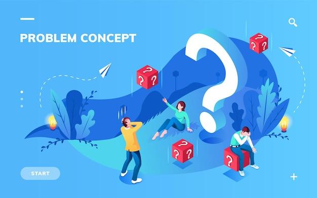 Écran d'application pour la résolution de problèmes ou la métaphore, l'incompréhension du concept de travail d'équipe et la recherche