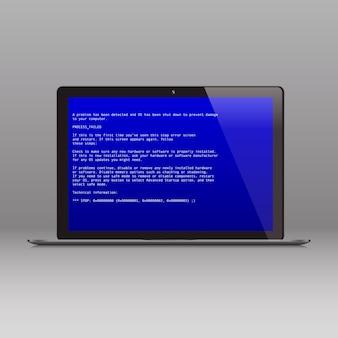 Écran bleu de la mort message d'erreur de plantage du système d'exploitation rapport de dysfonctionnement bsod