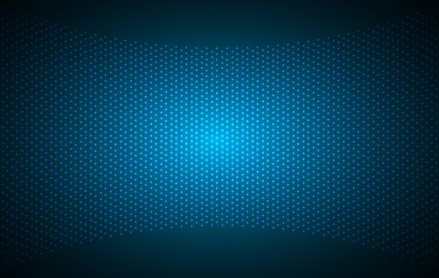 Écran de cinéma à led bleu pour la présentation de films.