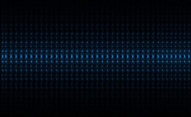Écran de cinéma à led bleue pour la présentation de films. fond de technologie abstraite légère