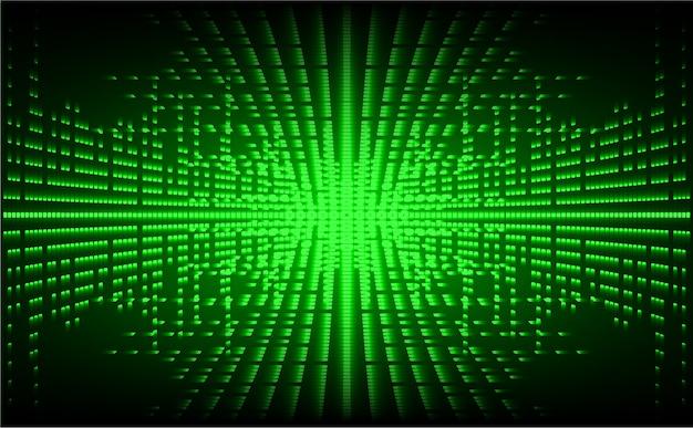 Écran de cinéma à led verte. fond de technologie abstraite légère