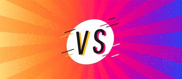 Écran concept versus. bataille de fond plat moderne