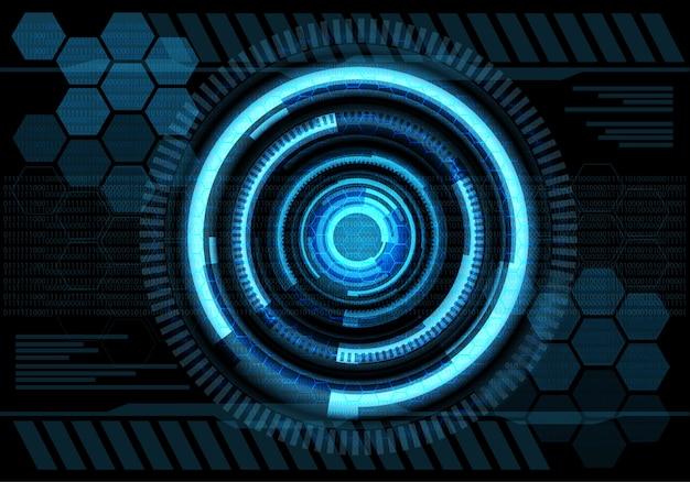 Écran de conception de technologie d'énergie bleue futuriste.