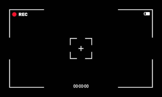 Écran du viseur du cadre de la caméra de l'enregistreur vidéo, enregistrement de l'écran vidéo.