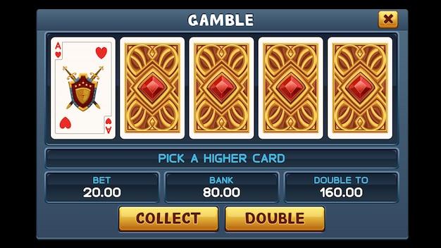 Écran gamble pour jeu de machine à sous
