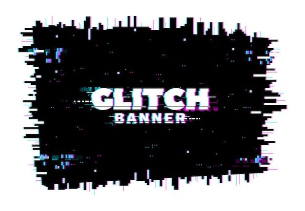 Écran de glitch de distorsion de couleur numérique, lignes et fond de bruit de pixel