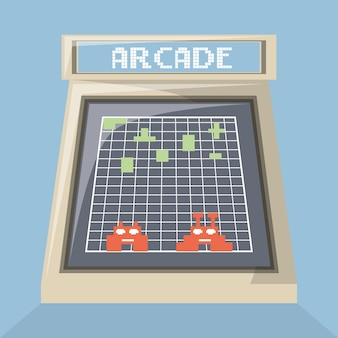 Écran d'icône de machine de jeu vidéo d'arcade
