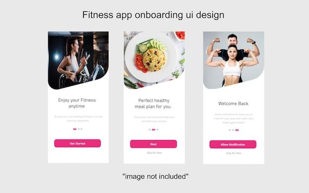 Écran d'intégration de l'application fitness