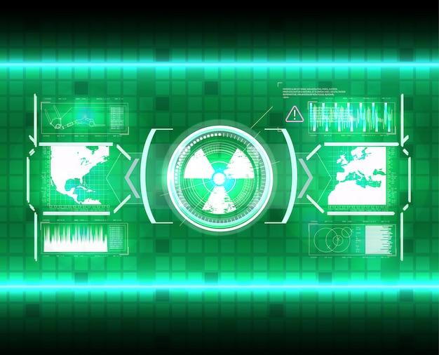 Écran d'interface hud futuriste. titres de légendes numériques. hud ui gui éléments de l'écran de l'interface utilisateur futuriste définis. écran de haute technologie pour les jeux vidéo. conception de concept de science-fiction.