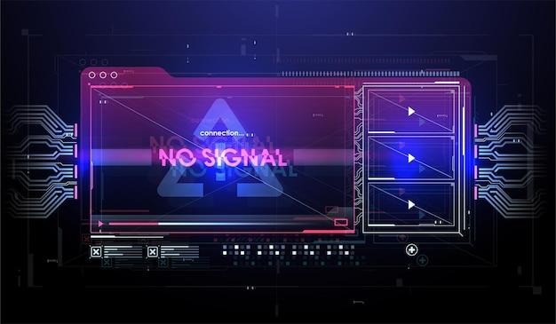 Écran d'interface utilisateur futuriste hud ui gui