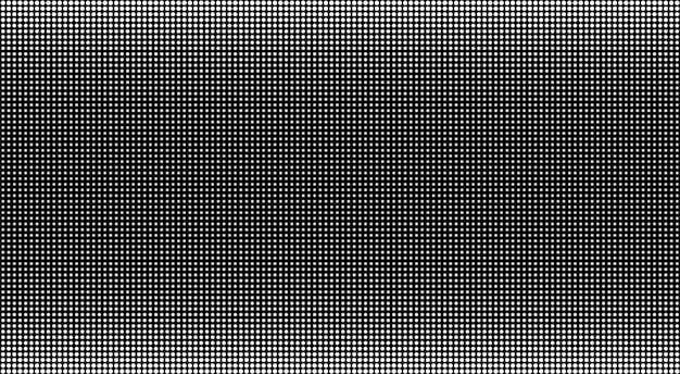 Ecran led. fond de télévision avec des points. écran lcd. vecteur de texture pixel blanc noir affichage numérique